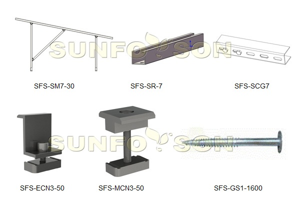 solar ground mounting support structure