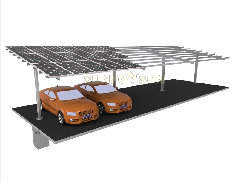 carport mounting solar structure