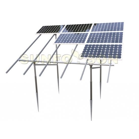 solar farm installation ground mounting support structures